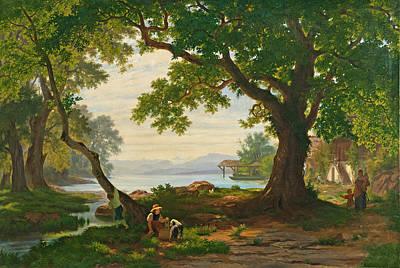 Robert Zuend Painting - At Lake Sempach by Robert Zuend
