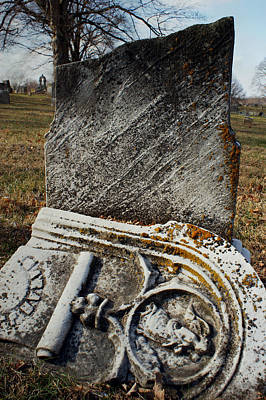 Graveyard Mixed Media - At Rest by Off The Beaten Path Photography - Andrew Alexander