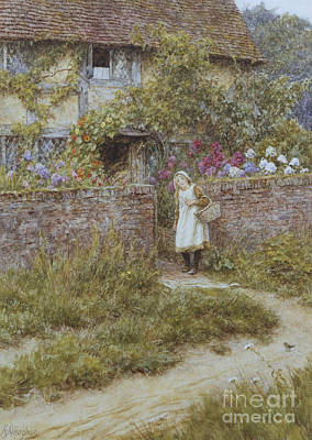 Architectural Artist Painting - At Sandhills by Helen Allingham