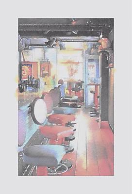Amusements Mixed Media - At The Bar by Steve K