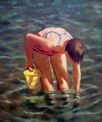 At The Beach Print by Joyce Geleynse