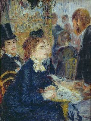 1877 Painting - At The Cafe by Pierre Auguste Renoir