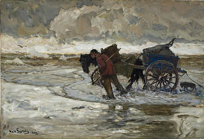 Hans Von Bartels Painting - At The Dunes by Hans von Bartels