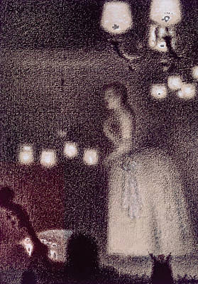 At The Eden Concert Print by Georges Pierre Seurat