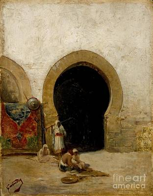 At The Gate Of The Seraglio Print by Celestial Images