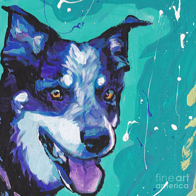 Cattle Dog Painting - At The Heel by Lea S