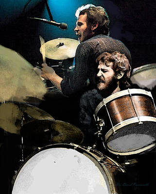 At The Helm  Levon Helm  Print by Iconic Images Art Gallery David Pucciarelli
