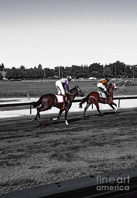9 Horses Digital Art - At The Races #9 And #10 by Heather Joyce Morrill