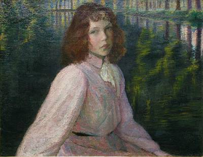 At The Rivers Head River Epte Print by Lilla Cabot