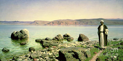 At The Sea Of Galilee Print by Vasilij Dmitrievich Polenov