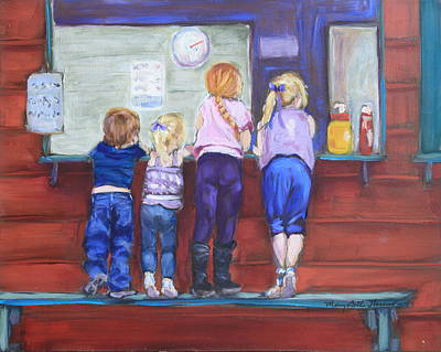 Snack Bar Painting - At The Snack Bar by Mary Beth Harrison