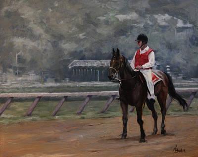 Heather Burton Painting - At The Start by Heather Burton