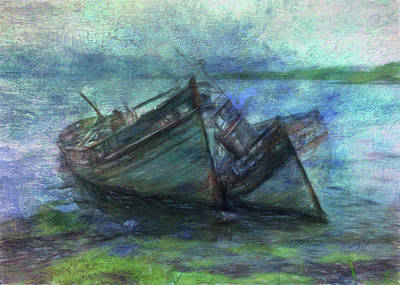 Digital Art - At The Water's Edge by Sarah Vernon