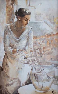 At The Window Original by Vali Irina Ciobanu