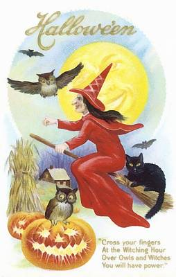 At The Witching Hour Print by Unknown