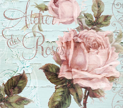 Atelier Des Roses Print by Mindy Sommers