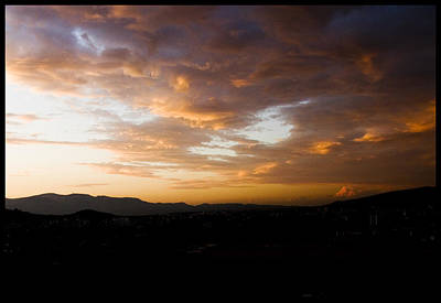 Athens Sunset Print by Julia Bridget Hayes