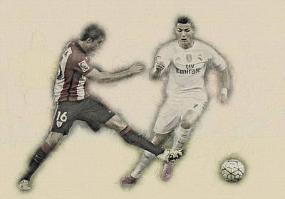 Wayne Rooney Digital Art - Athletic Club  Vs Real Madrid by Don Kuing