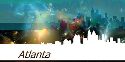 Star Digital Art - Atlanta 1 by Alberto RuiZ