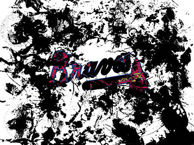 Grapefruit Mixed Media - Atlanta Braves 1d by Brian Reaves