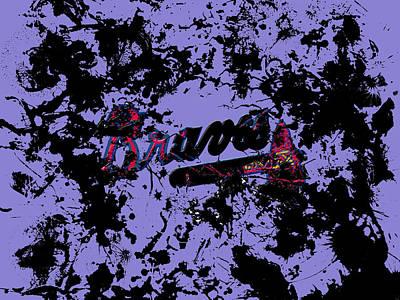 Grapefruit Mixed Media - Atlanta Braves 1e by Brian Reaves