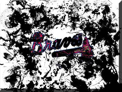 Grapefruit Mixed Media - Atlanta Braves B1 by Brian Reaves