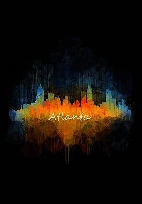 Architecture Painting - Atlanta City Skyline Uhq V4 by HQ Photo