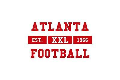 Atlanta Photograph - Atlanta Falcons Retro Shirt 2 by Joe Hamilton