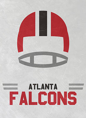 Falcon Mixed Media - Atlanta Falcons Vintage Art by Joe Hamilton