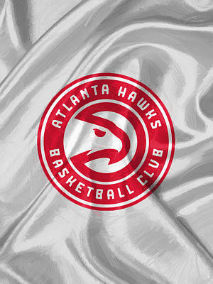 Nba Digital Art - Atlanta Hawks by Afterdarkness