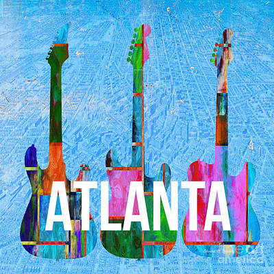 Maps Photograph - Atlanta Music Scene by Edward Fielding