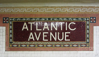 Stop Sign Photograph - Atlantic Avenue Subway Sign by Nishanth Gopinathan