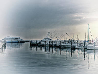Photograph - Atlantic Highlands Harbor At Sunrise  New Jersey   Usa   Blue by Mother Nature