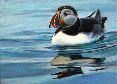 Puffin Drawing - Atlantic Puffin 1 by Kelly McNeil