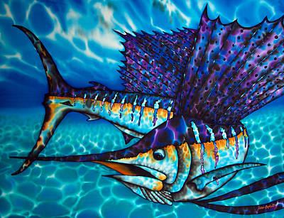 Atlantic Sailfish Print by Daniel Jean-Baptiste