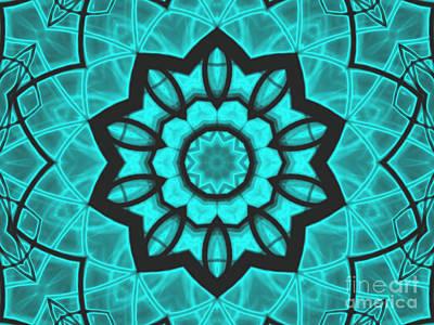 Atlantis Stained Glass Print by Roxy Riou