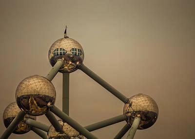 Brussels Photograph - Atomium Edit 1 by Chris Fletcher