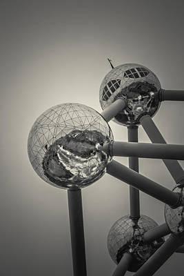 Brussels Photograph - Atomium Edit 3 by Chris Fletcher