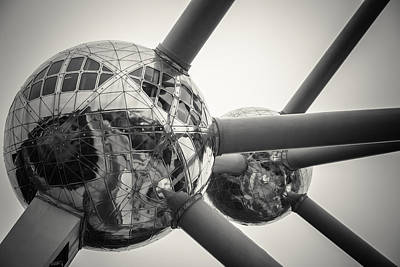 Brussels Photograph - Atomium Edit 7 by Chris Fletcher