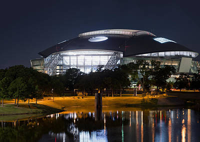 Dallas Skyline Photograph - Dallas Cowboys Stadium 1016 by Rospotte Photography