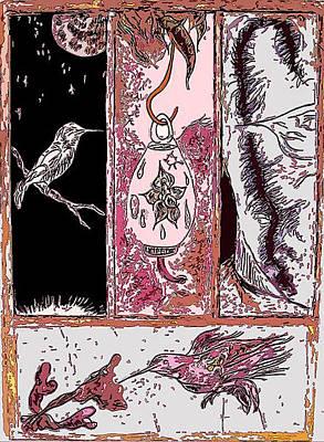 Attracting The Hummingbird Print by Steve  Minton