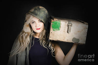 Backup Photograph - Attractive Pinup Girl. Blond Bombshell by Jorgo Photography - Wall Art Gallery