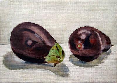 Aubergines Original by Sarah Lynch
