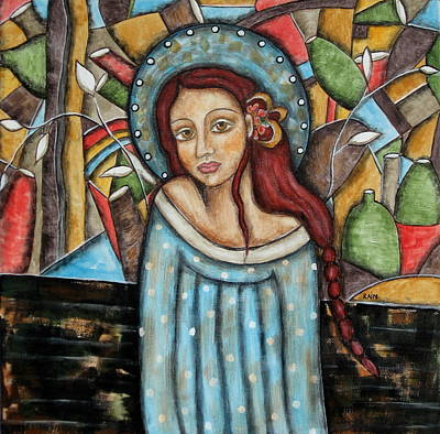 Christian Art . Devotional Art Painting - Aubrey by Rain Ririn