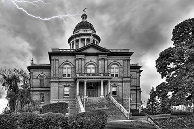 Old Auburn Courthouse Photograph - Auburn Courthouse by Larry Young