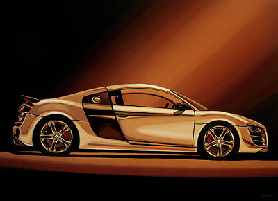 Antique Car Painting - Audi R8 2007 Painting by Paul Meijering