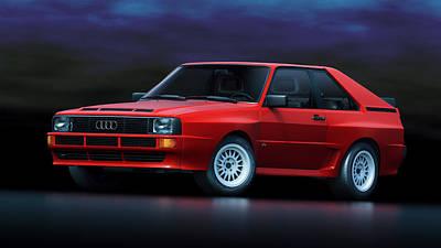 Prototype Digital Art - Audi Sport Quattro by Marc Orphanos