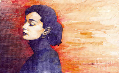 Audrey Hepburn Painting - Audrey Hepburn 1 by Yuriy  Shevchuk