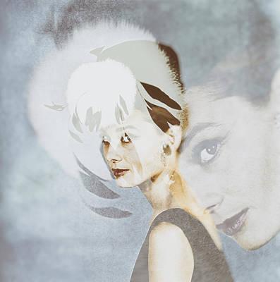 At Poster Digital Art - Audrey Hepburn 1960s by Georgia Fowler