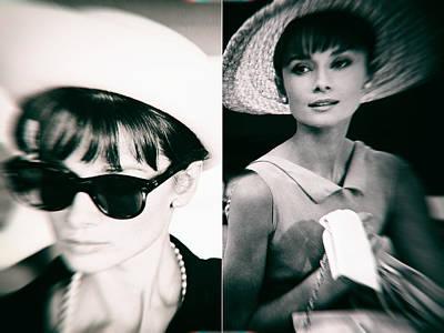 1950s Movies Digital Art - Audrey Hepburn In Black And White by Georgia Fowler